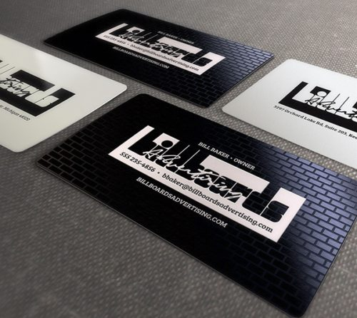 Plastic Side Business Card
