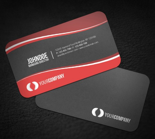 30 creative rounded corner business cards creativevore sleek rounded corner business card reheart Image collections