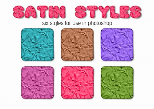 6 Satin Photoshop Styles