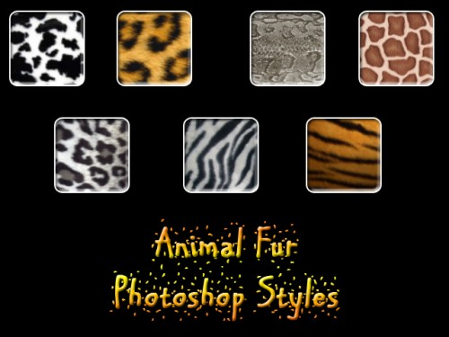 7 Animal Fur Photoshop Styles