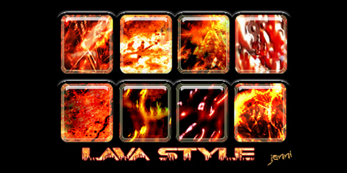 8 Lava Styles for Photoshop