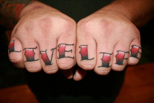 Amazing Knuckle Tattoos Designs