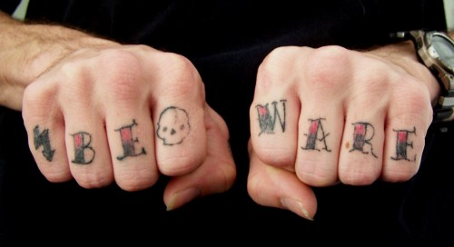 Boys Knuckle Tattoos for Party