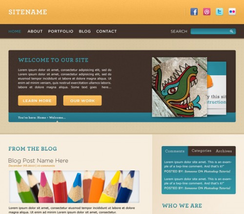 Convert a Cheerful Web Design to HTML and CSS