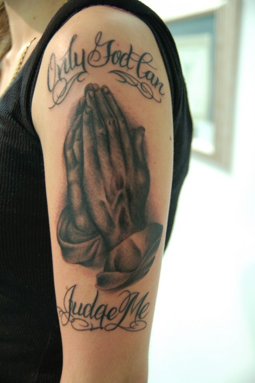 Cool Praying Hands Tattoos