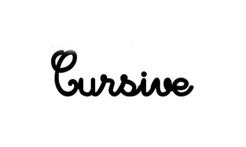 write your name in cursive
