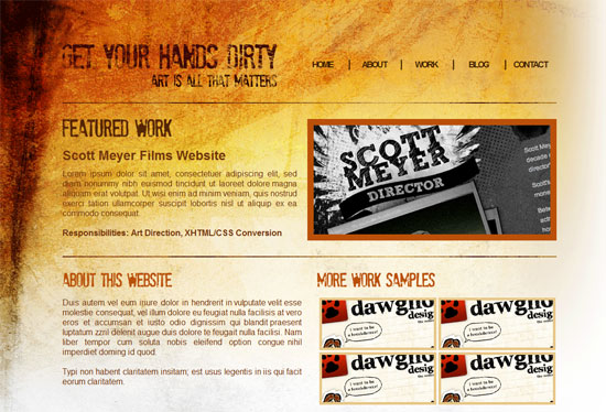 How to Code a Grunge Web Design