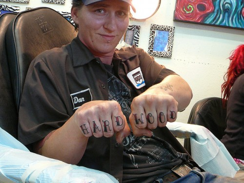 New Hard Wood Knuckle Tattoos