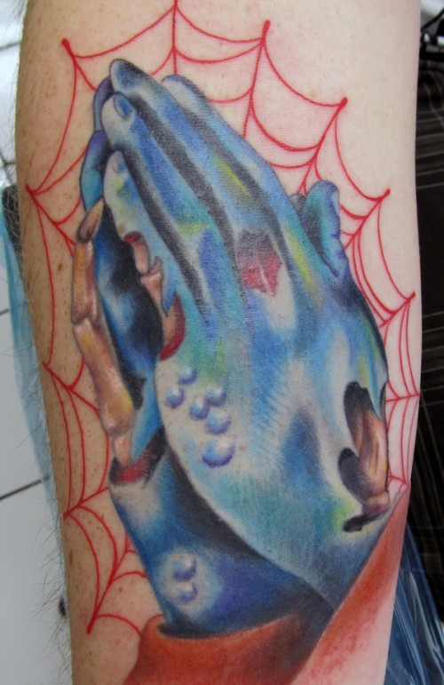 Praying Zombie Hands Tattoo