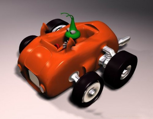Create a Car using the Polygonal Modelling
