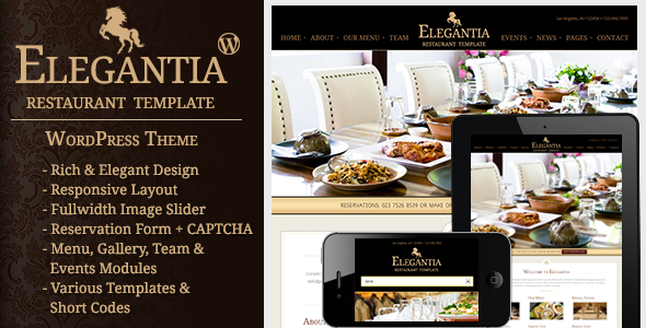 18 Cool Restaurants and Cafes WordPress Themes