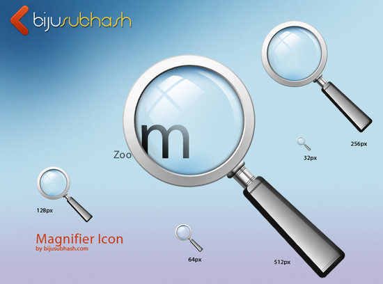 Fresh Magnifying Glass Search Icons PSD Files