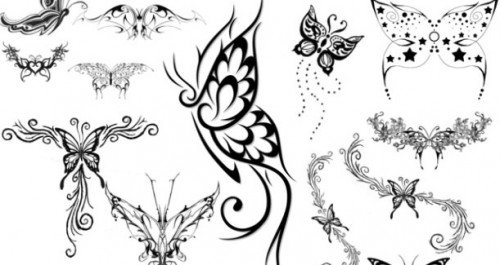 22 Butterfly Tattoo Brushes