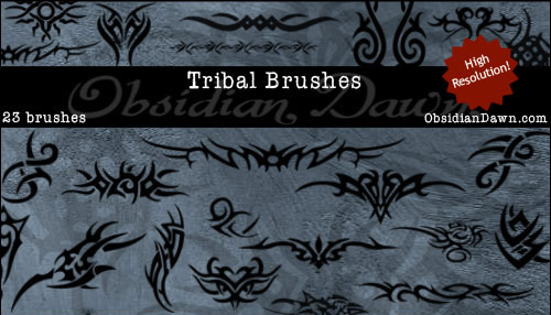 23 Tribal Photoshop Brushes