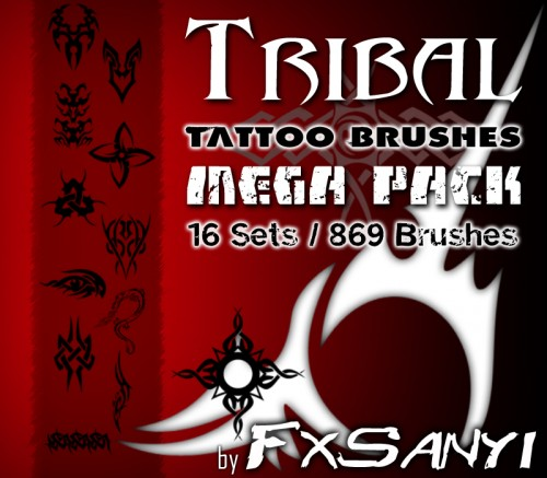 869 Tribal Tattoo Brushes