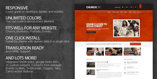 ChurcHope - Responsive WP Theme