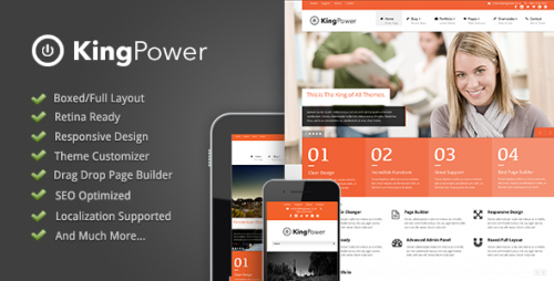 King Power - Retina Ready Theme