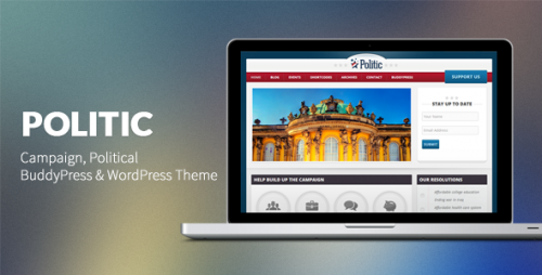 Politic: Campaign, Political WP Theme
