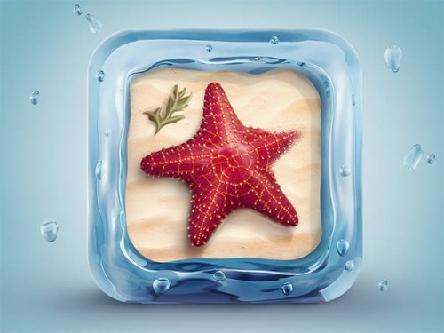 Beautifully Designed 3D Starfish Icon