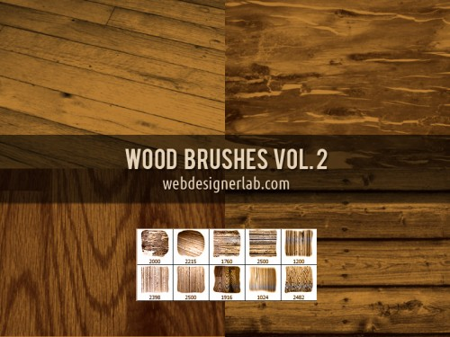 10 High Resolution Wood Brushes