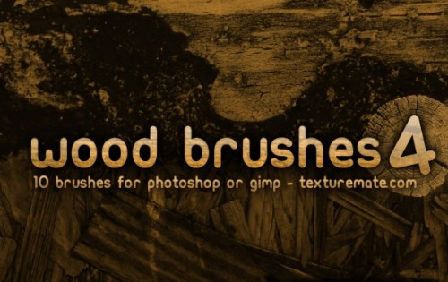 10 Photoshop Wood Brushes