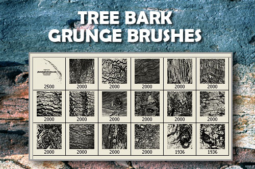 18 Tree Bark PS Brushes