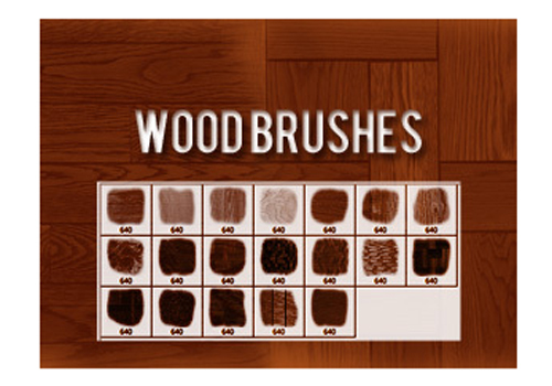 19 Wood Brushes for Photoshop