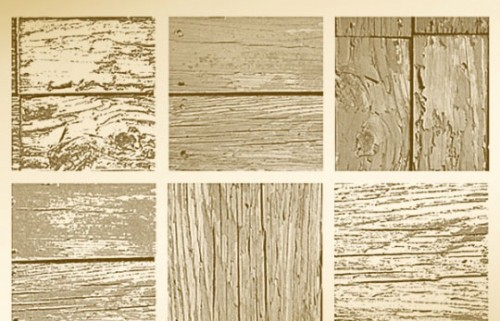 6 Distressed Wood PS Brushes