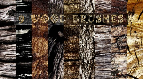 9 Wood Texture Brushes