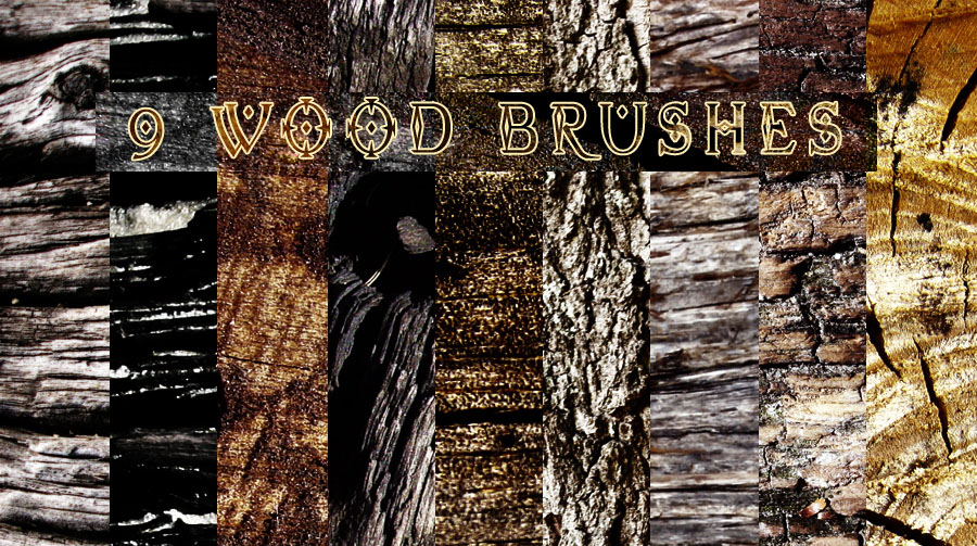 160+ Free HR Wood Brushes for Photoshop
