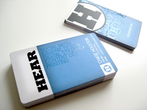Hear Agency Business Cards