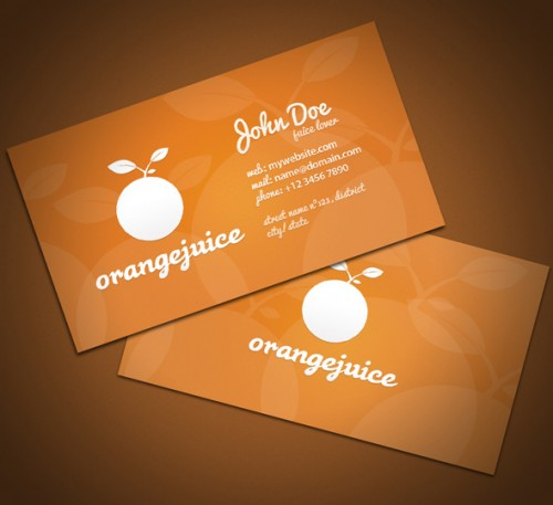 Orangejuice Business Card