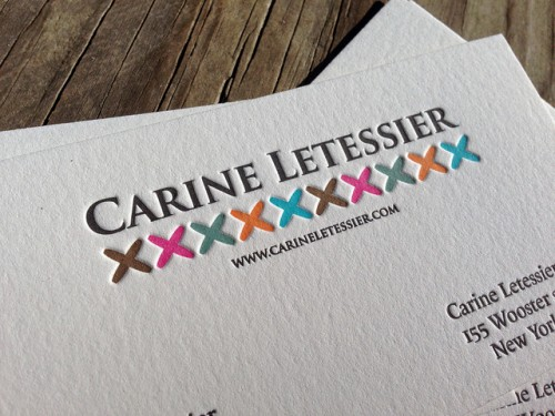 Six Color Letterpress Business Card