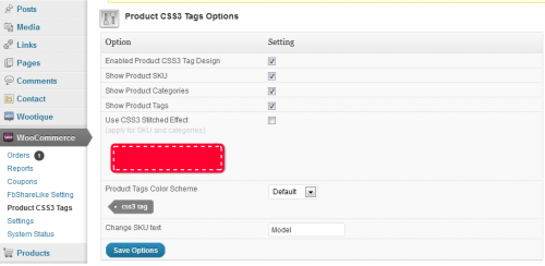 WooCommerce Product CSS3 Tags