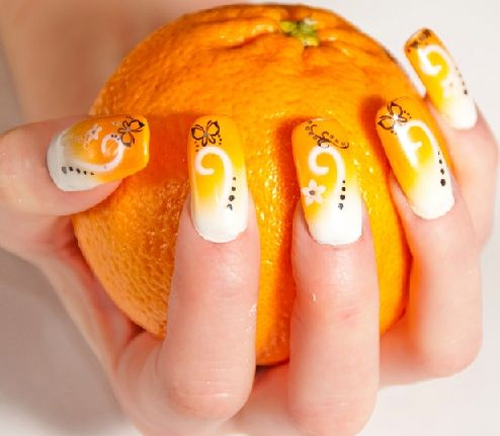 Best Yellow Color Nails 2013