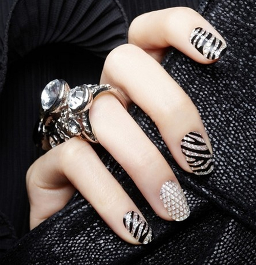 Crystal Nail Stickers - Nail Designs 2013