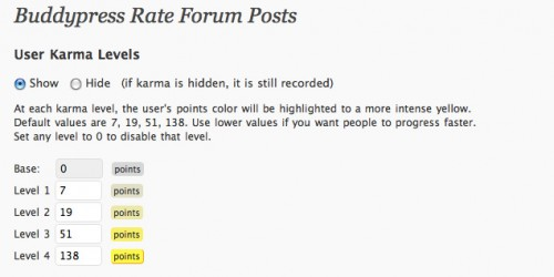 BuddyPress Rate Forum Posts