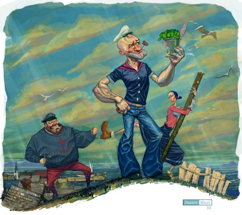 Popeye the Sailor Artwork