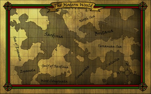 Cool Old Style Map Texture