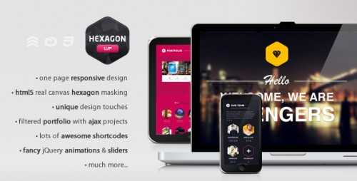Hexagon - Creative One Page WordPress Theme