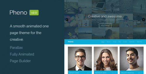 Pheno - One Page Parallax WordPress Theme