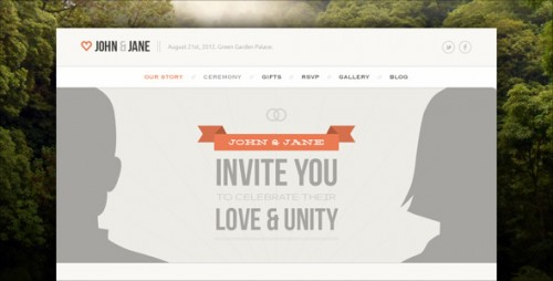 Wedding - Responsive Single Page WP Theme