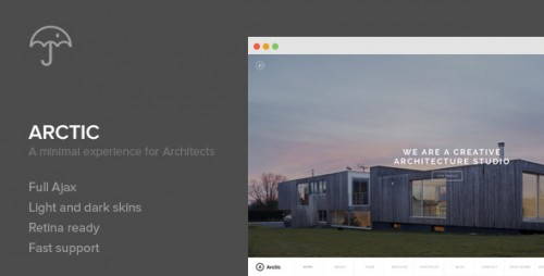 Arctic - Architecture WordPress Theme