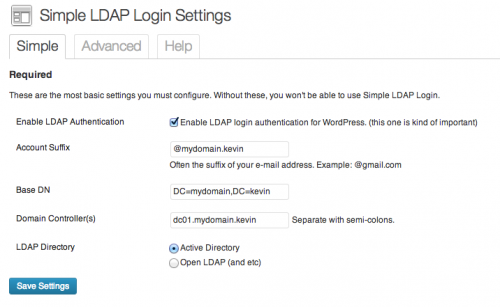 Simple LDAP Login