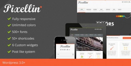 Pixellin - Responsive WordPress Theme