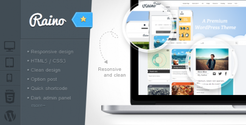Raino - Clean Blog and Portfolio Responsive Theme