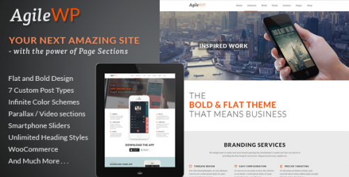 Agile - Multi-Purpose App Showcase WP Theme