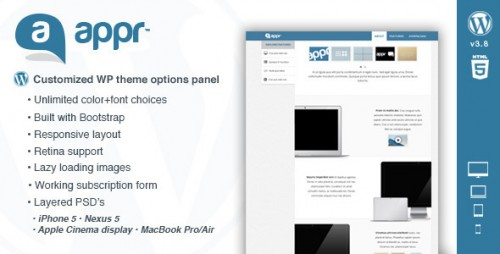 Appr - One Page WordPress Theme for Apps