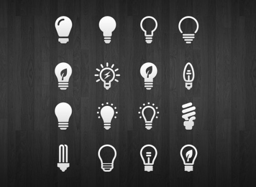 Bulb Icons PSD Download