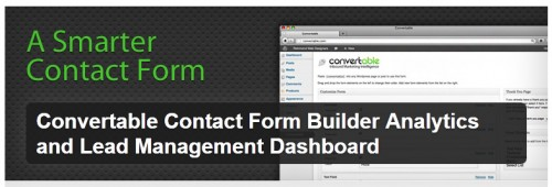 Convertable Contact Form Builder Analytics